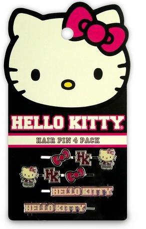 Hello Kitty Hair Pin (Hello Kitty Varsity Hair Pins set of 4)