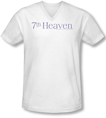 7th Logo cuello Heaven blanco camiseta en hombre para v con rpwr6q