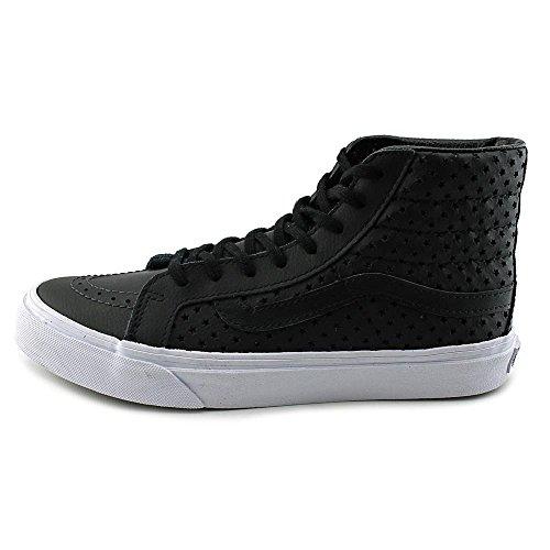 Vans Femmes Sk8-hi Slim - Stars Perf (noir / Blanc) Noir