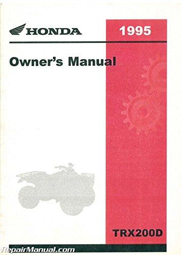 - 31HF1660 1995 Honda TRX200D FourTrax 200 Type II ATV Owners Manual