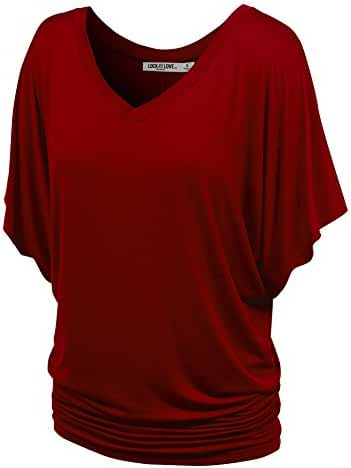 LL Womens Boat Neck Dolman Top - Made in USA