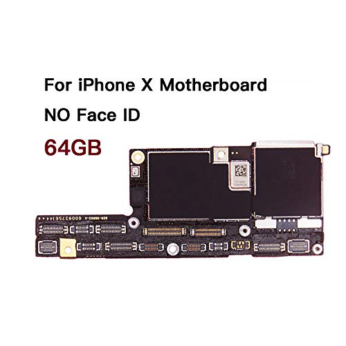 for iPhone X Factory Unlock Motherboard No Face ID with Full Chips iOS System Logic Board Good Working (64GB)