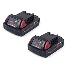 Masione 2 Pack Battery For Milwaukee M18 18V XC Red Lithium Cordless Power Tools 48-11-1815 48-11-1850