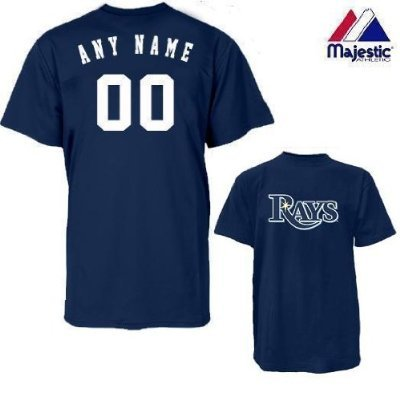 Tampa Bay Rays Personalized Custom (Add Name & Number) YOUTH MEDIUM 100% Cotton T-Shirt Replica Major League Baseball Jersey