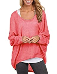 Women's T-Shirts Batwing Sleeve Casual Oversize Loose Girls Shirts Top knitwear
