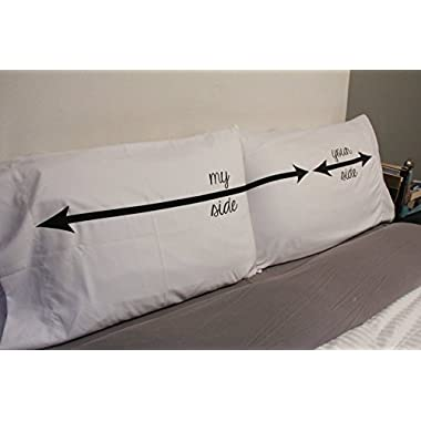 The Original My Side Your Side His and Hers Couple Pillowcases