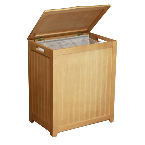 Oceanstar RHP0109N Rectangular Laundry Wood Hamper, Natural Finished (Good Grips Laundry Hamper)