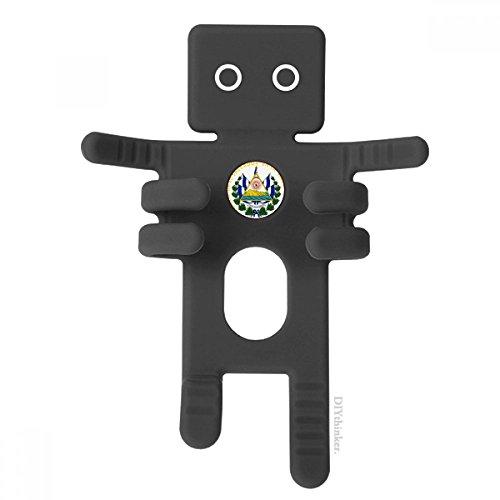 ador National Emblem Black Phone Mount Car Dashboard Holder Cell Phone Gift (El Salvador Emblem)