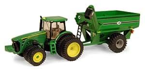 Ertl John Deere 8320R Tractor With J & M Grain Cart, 1:64 Scale