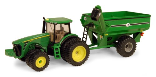 Ertl John Deere 8320R Tractor With J & M Grain Cart, 1:64 Scale