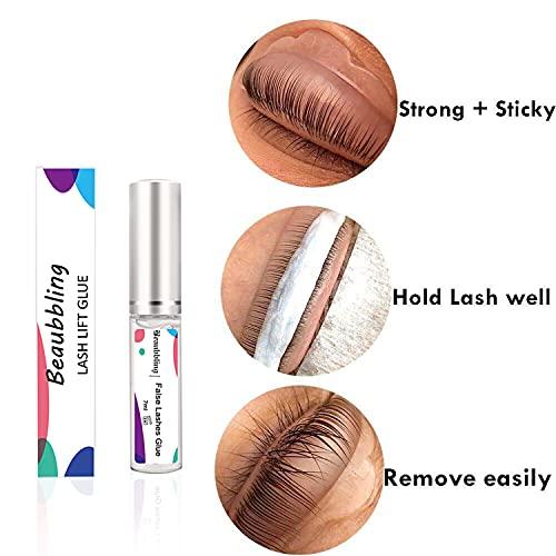 Beaubbling Super Stick Lash Lift Glue Easily Remove Lash Lift Adhesive Eyelash Perming Lifting Adhesive Glue 5ml Clear, No Residue