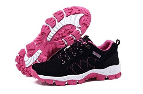 Alltid Vackra Kvinnor / Mens Tillfälliga Gång Vandringsled Skor Löparskor Sneakers Svart (kvinnor)