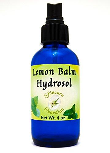 SkinCare Guardian Lemon Balm Hydrosol - An Anti-Inflammatory Skin Toner and Clarifier- de Limon Hidrosol 4oz Cobalt Bottle (Clarifier Skin)