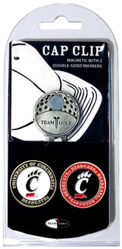 (Team Golf NCAA Cincinnati Bearcats Golf Cap Clip with 2 Removable Double-Sided Enamel Magnetic Ball Markers, Attaches Easily to Hats)