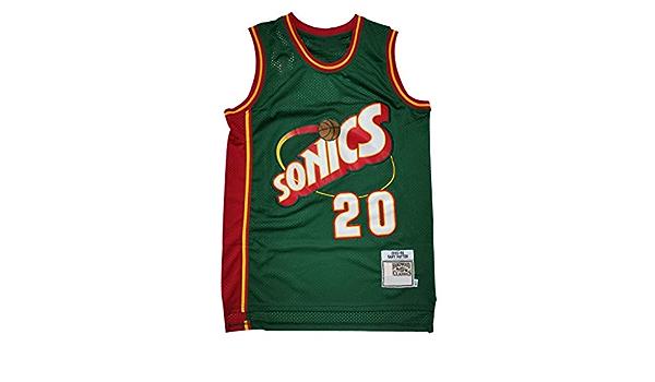 Patr/ón De Tama/ño XS-XXL Camisa Fresca Transpirable Baloncesto Zyf Camiseta Baloncesto Jersey Retro Camiseta Gary Payton # 20 Chaleco