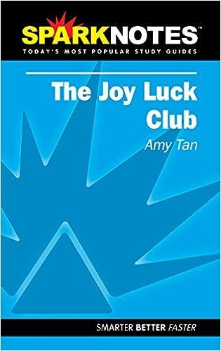 Amazoncom Spark Notes The Joy Luck Club 0720593341945 Amy Tan