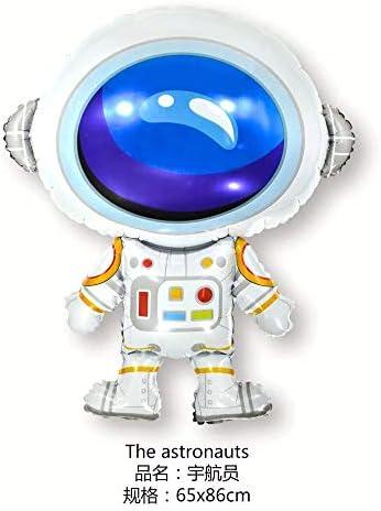 HSJDZ Astronauta Astronauta UFO Nave Espacial Cohete Dibujos Animados Ciencia ficción Cumpleaños Tema Fiesta Sistema Solar Decoración Q Astronauta: Amazon.es: Hogar