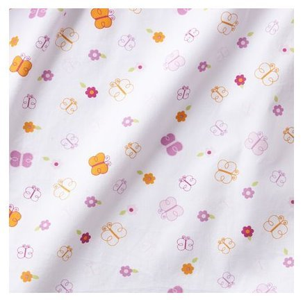 Tiddliwinks Sweet Safari Fitted Sheet in White/Pink