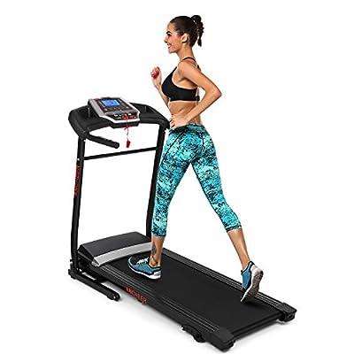 Ziema Electric Folding Treadmill, Manual Incline Motorized Running Machine