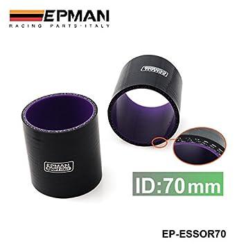 """2.75 """"70mm de 3 capas de silicona turbo intercooler Pipa de acople de manguera"""