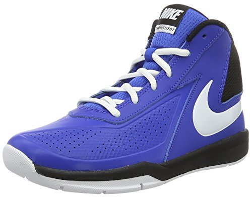 NIKE Kids Team Hustle D 7 (GS) Game Royal/White Black Basketball Shoe 6 Kids US