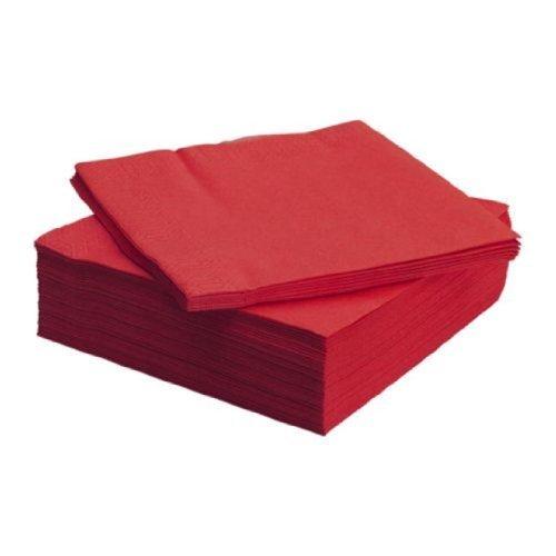 Large Product Image of IKEA FANTASTISK Paper Napkin, Red (100)