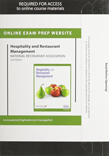 Exam Prep for Hospitality and Restaurant Management -- Access Card