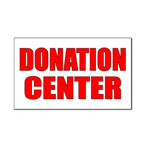 Donation Center Car Door Magnets Magnetic Signs Qty 2   9 X 12 Inches