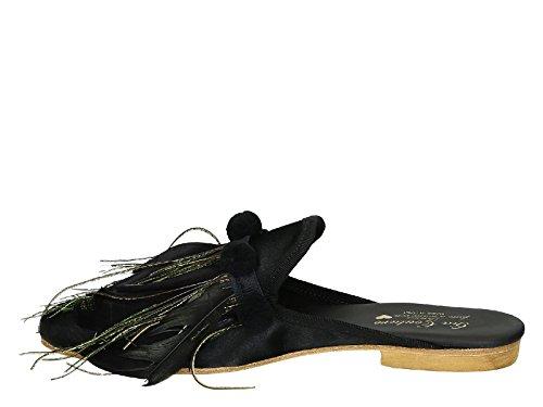 Et Femme En pieds Gia Nu Nero Tissu Cuir Noir Couture qw71nZxf