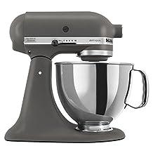 KitchenAid KSM150PSGR Artisan 5-Quart Stand Mixer, Grey