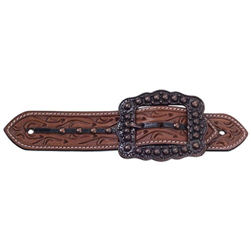 Tough 1 Silver Royal Cooper Belt Adult Spur Straps ()