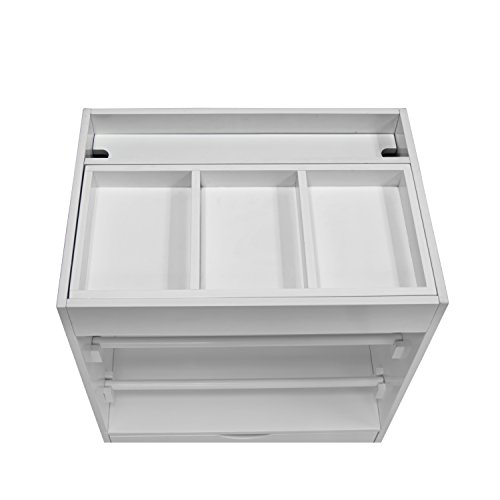 Offex Home Office Cart White Gift Wrapping Station Craft Organizer (Large Image)