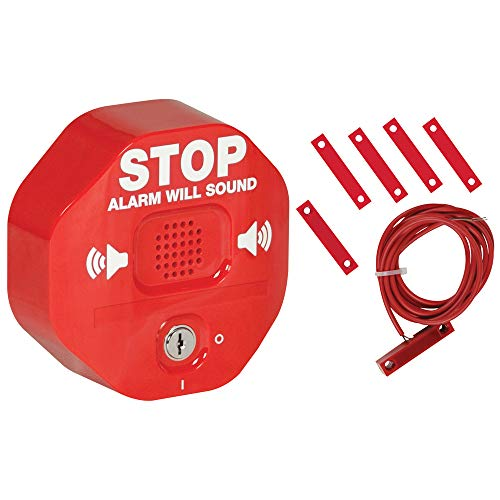 Safety Technology International, Inc. STI-6402 105 dB Exit Stopper Multifunction Door Alarm for Double Doors with on/off Switch and 9 Volt ()