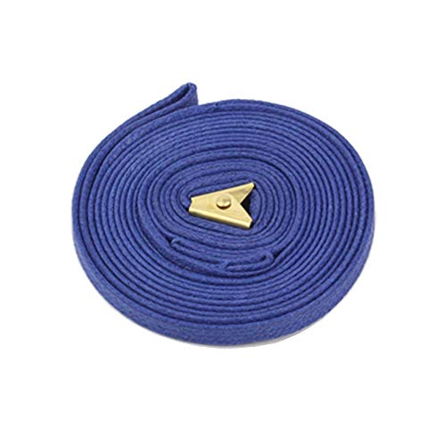 Pocket_Lead Integral Unit [S] Lightest/Simple/Sturdy/Minimal 100% Cotton Double waxing Refined Colors Easy and Quick on/Off Safe and Dog Training/Dog Show Lead (Blue)