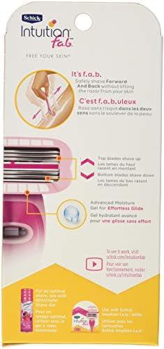 Schick Intuition f.a.b. Maquinilla de afeitar para mujer con 1 ...