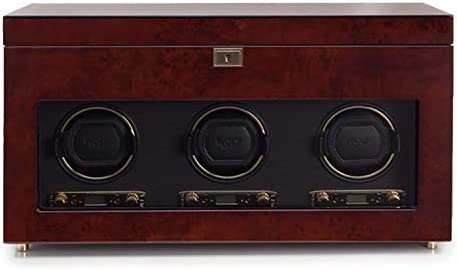 ウルフSavoy Triple Watch Winder with Storage Burlwood