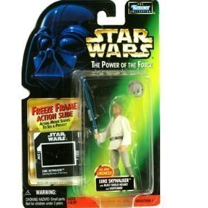 Star Wars - Power of the Force - Freeze Frame Luke Skywalker with Blast Shield Helmet Action Figure by Kenner