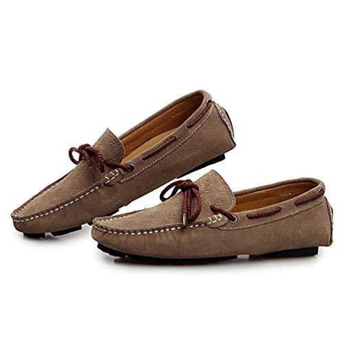 Baymate Hombres Mocasines Casual Zapatos De Conducción Antideslizante suelas Marrón