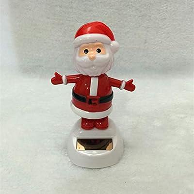 Overstep Creative Cute Christmas Solar Swing Doll Car Dashboard Nod Dancing Doll Christmas Gift Car Interior Decoration: Arts, Crafts & Sewing