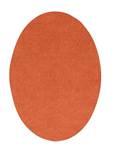 Ambiant Pet Friendly Solid Color Orange 4'X6' Oval - Area ()