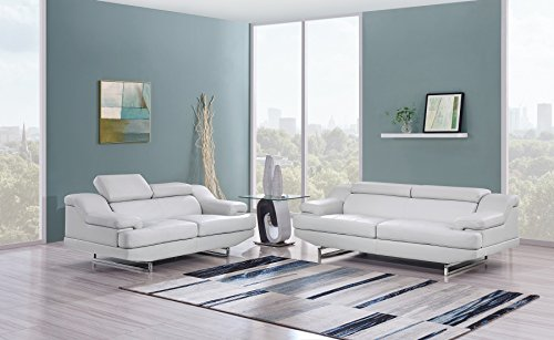 Global Furniture Natalie Sofa, Light Grey and Wagner