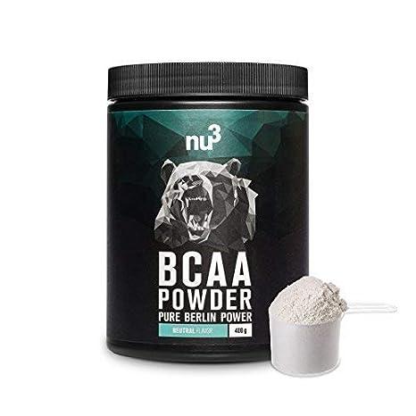 nu3 BCAA en polvo | 400g powder sabor neutral | 40 porciones de aminoácidos ramificados |