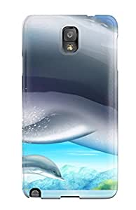 High Quality Dolphins Tpu Case For Galaxy Note 3