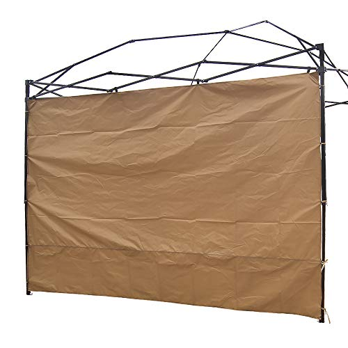 NINAT Canopy Sidewalls 10 ft Sunshade Privacy Panel for Gazebos Tent Waterproof,Khaki