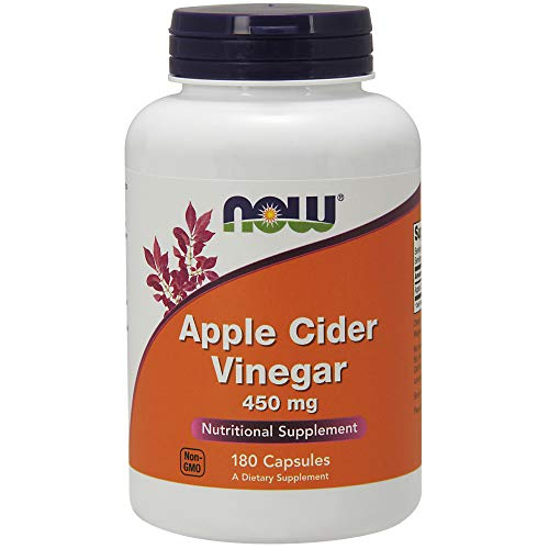 (NOW Supplements, Apple Cider Vinegar 450 mg, Derived from Fermentation of Sweet Apple Cider, 180 Capsules)