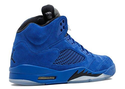 Nike Air Jordan 5 Retro 'blå Ruskind' - 136.027 Til 401 - Størrelse - Gameroyal / Sort eq2ZCZx