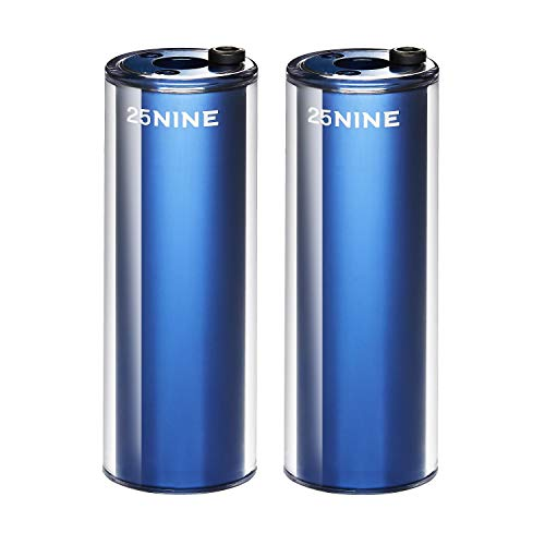 25NINE BMX Bike Pegs - Aluminum Core with PC Outer Sleeve - Blue
