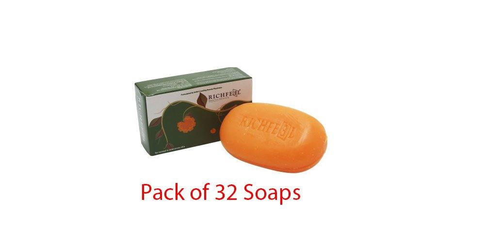 Pack of 32 - Richfeel Calendula Soap For Acne - 75g