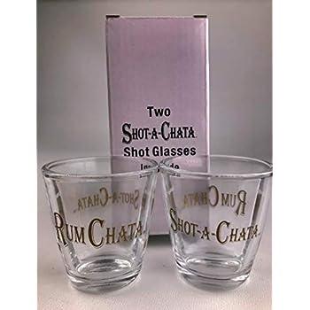 4 New Rum Chata Shot Glasses 2 Cereal Shooters and 2 Shot a Chata shot glasses