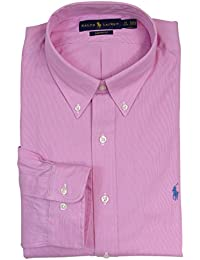 Polo Ralph Lauren Men's Custom Fit Micro Stripe Button Down Shirt-Pink